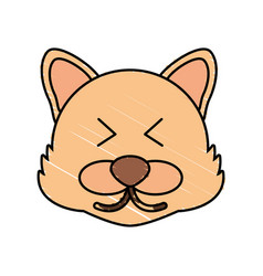 cute wolf drawing animal vector image