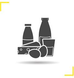 Dairy icon vector