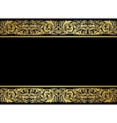 Floral border with gilded elements vector