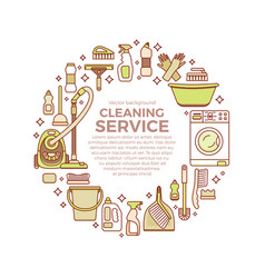 household cleaning supplies vector image vector image
