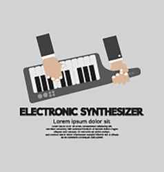 Musician Playing Electronic Synthesizer Flat vector image vector image