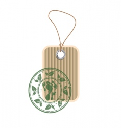 paper tag with stamp vector image