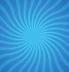 popular blue color twist rotate ray background vector image vector image