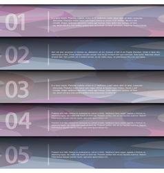 Purple design template vector image vector image