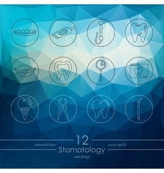 Set of stomatology icons vector image vector image