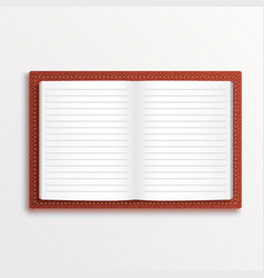 simple opened isolated red book vector image
