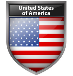 badge design for united states of america flag vector image vector image