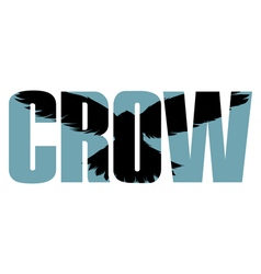 Crow sign vector image vector image