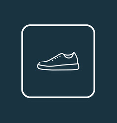 sneakers outline symbol premium quality isolated vector image
