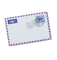 airmail envelop vector image