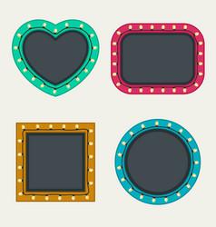 frames set with bulbs vector image