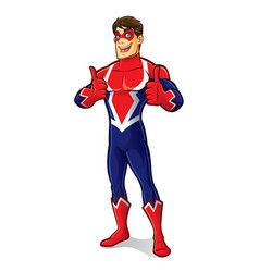 friendly superhero thumb up vector image vector image