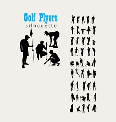 Golf Silhouettes vector image