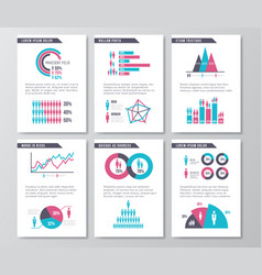 business infographic brochure pages with vector image vector image