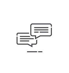 chat messages icon notification vector image vector image