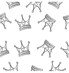 crown pattern style vector image