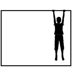 hanging boy vector image