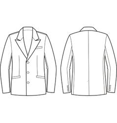 Men business jacket vector image vector image