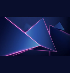 abstract geometric low polygon background 3d vector image