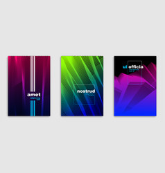 abstract lines minimal modern brochures design vector image