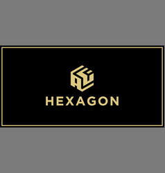 af hexagon logo design inspiration vector image