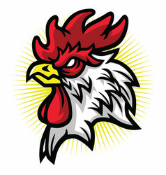 angry rooster mascot logo premium vector image