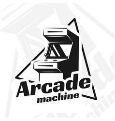 arcade machine vector image