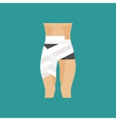 Bandaged thigh vector