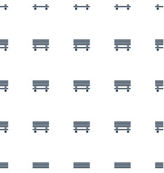Bench icon pattern seamless white background vector