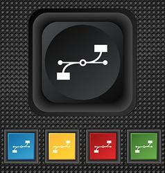Bezier curve icon sign symbol squared colourful vector