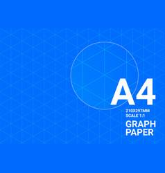 Blueprint background graph paper a4 blue print vector