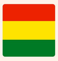 Bolivia square flag button social media vector