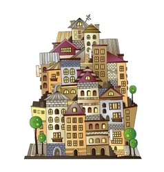 cartoon construction town vector image