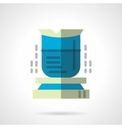 Chemical beaker flat icon vector