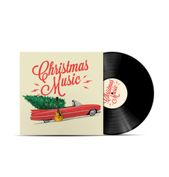 christmas music playlist cover art vector image