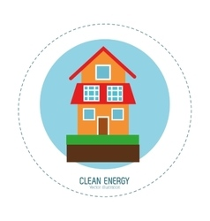 Clean energy house green home vector