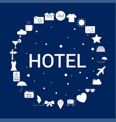 creative hotel icon background vector image