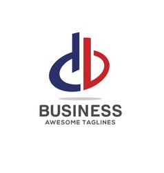 Db letter logo design vector