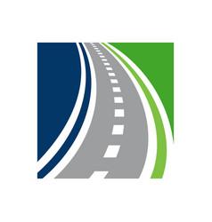 Direction logo combination roadway vector