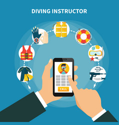 Diving instructor composition vector