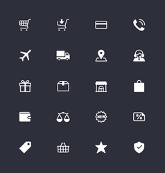 e-commerce simple icons vector image