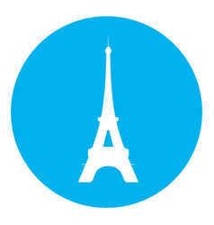 eiffel tower blue icon vector image