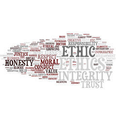Ethic word cloud concept vector