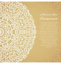 Ethnic background with mandala lace ornament vector