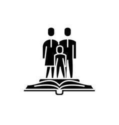 Family law black icon sign on isolated vector