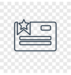 favorite web concept linear icon isolated on vector image