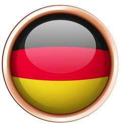 Flag of germany on round frame vector
