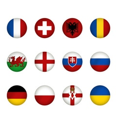 Flags of Europe vector image