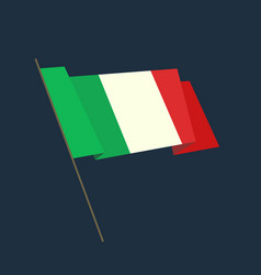 Flat style waving italy flag vector