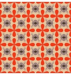 Flower orange seamless pattern vector image